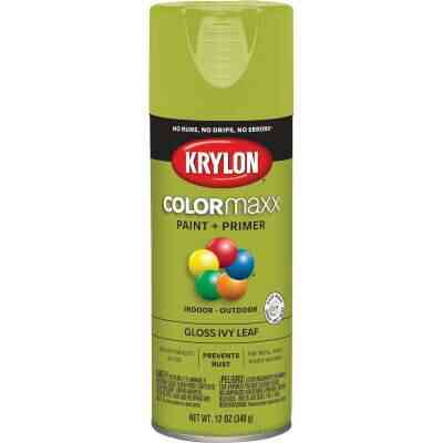 Krylon ColorMaxx12 Oz. Gloss Spray Paint, Ivy Leaf