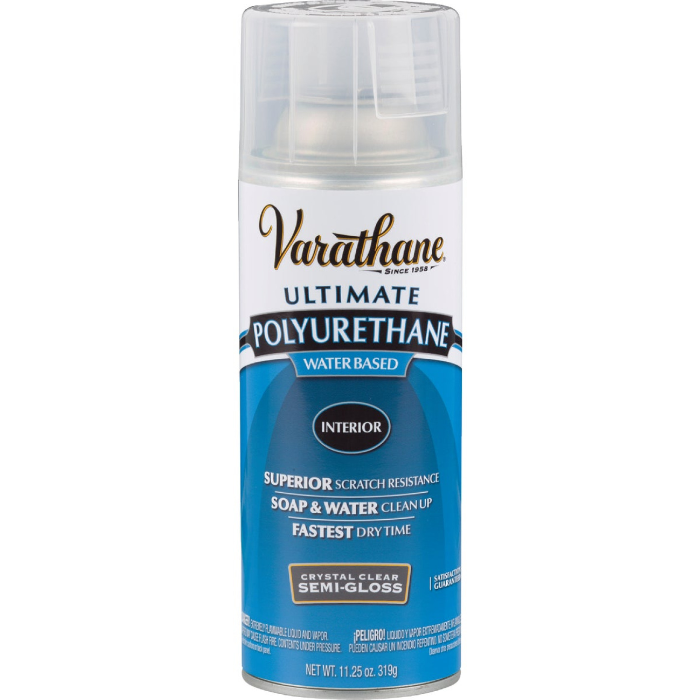 Varathane Semi-Gloss Clear Interior Water-Based Spray Polyurethane, 11.25 Oz. Image 1