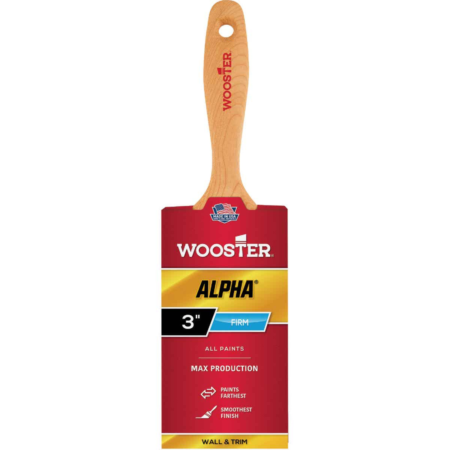 Wooster Alpha 3 In. Firm Flat Varnish Paint Brush Image 1