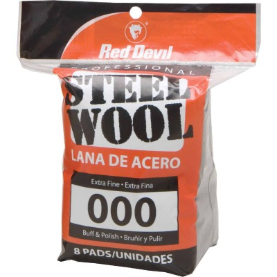 Red Devil #000 Steel Wool (8 Pack)