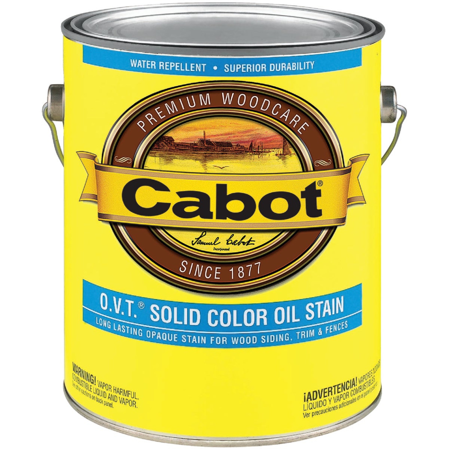 Cabot O.V.T. Solid Color Oil Exterior Stain, Neural Base, 1 Gal. Image 1