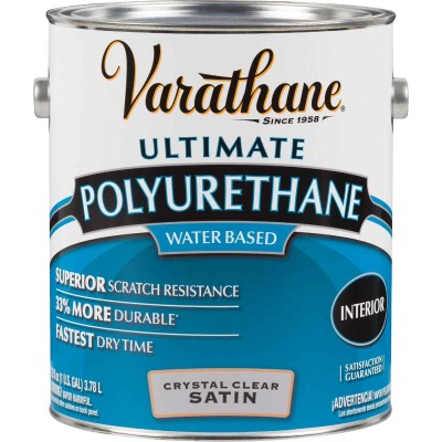 Varathane Satin No Odor Water Based Interior Polyurethane, 1 Gal.