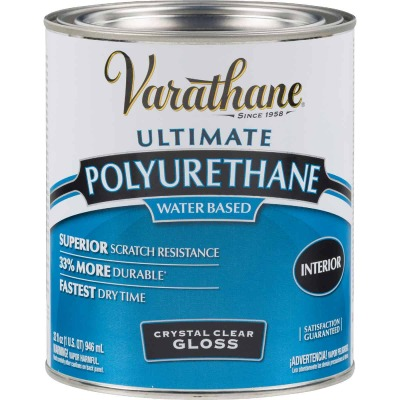 Varathane Gloss No Odor Water Based Interior Polyurethane, 1 Qt.