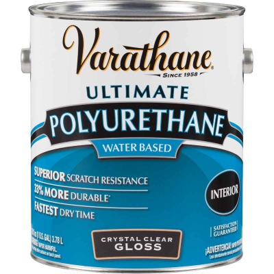 Varathane Gloss No Odor Water Based Interior Polyurethane, 1 Gal.
