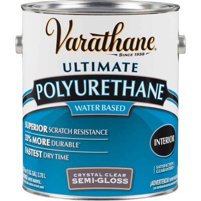 Varathane Semi-Gloss Low Odor Water Based Interior Polyurethane, 1 Gal.