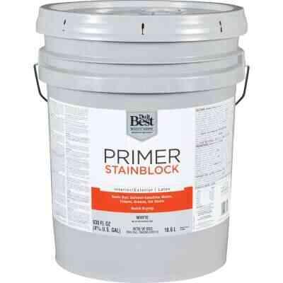 Do it Best Latex Interior/Exterior Stain Blocking Primer, White, 5 Gal.