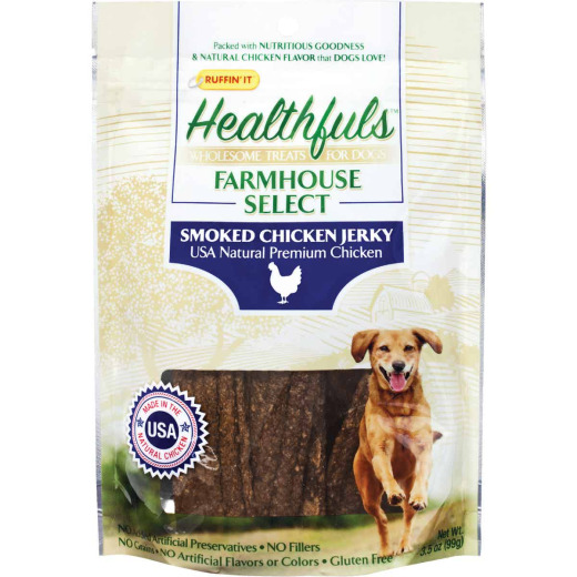 Ruffin' it Healthfuls Farmhouse Select Medium & Large Dog Chicken Flavor Jerky Dog Treat, 3.5 Oz.