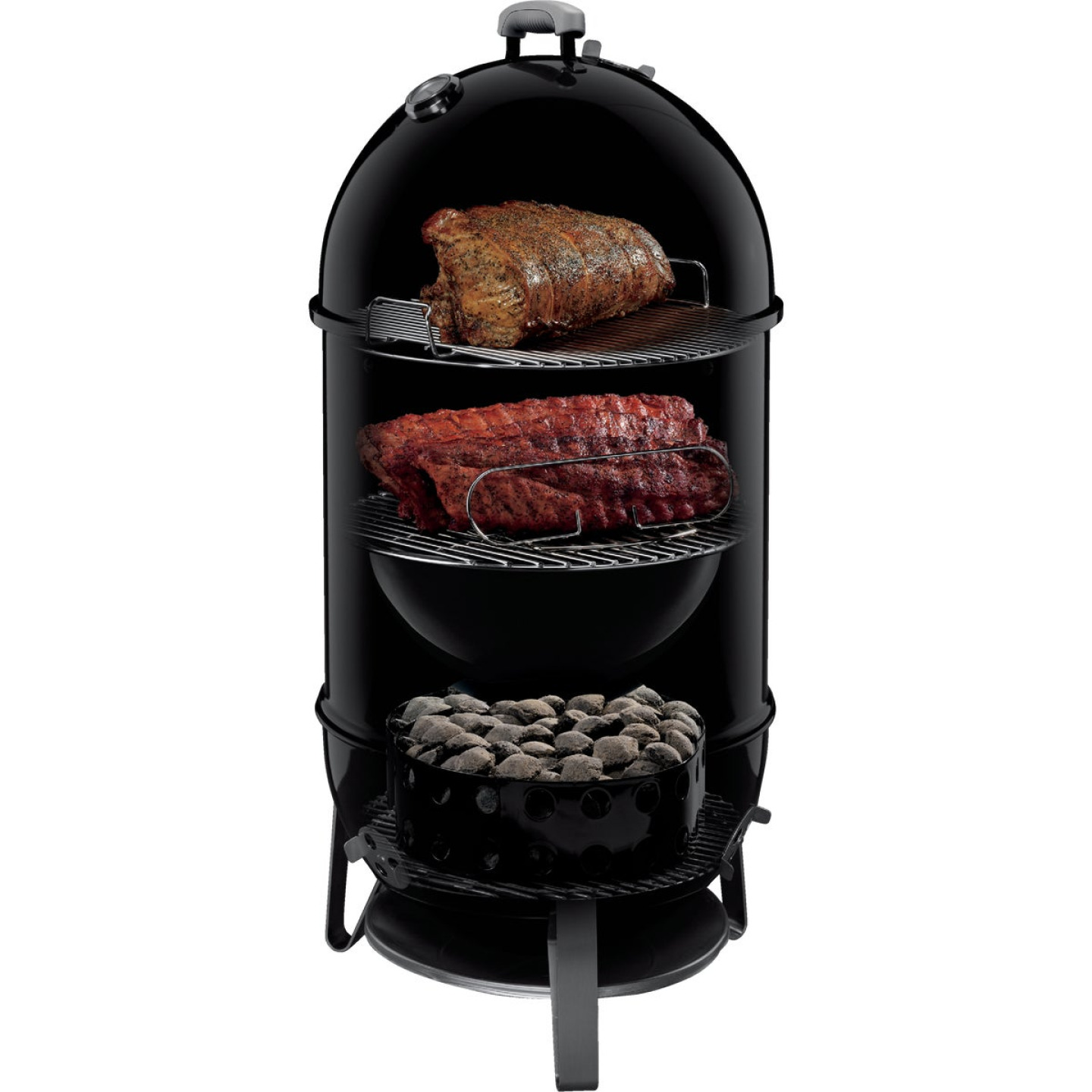 Weber Smokey Mountain Cooker 18 In. Dia. 481 Sq. In. Vertical Charcoal Smoker Image 9