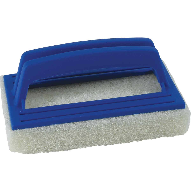 Jed Pool 5.5 In. L. Foam Scrubber Plastic Frame Multi Purpose Brush Image 1