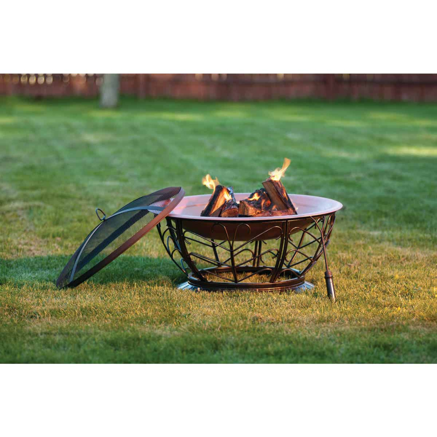 Outdoor Expressions 30 In. Coppertone Round Steel Fire Pit Image 6