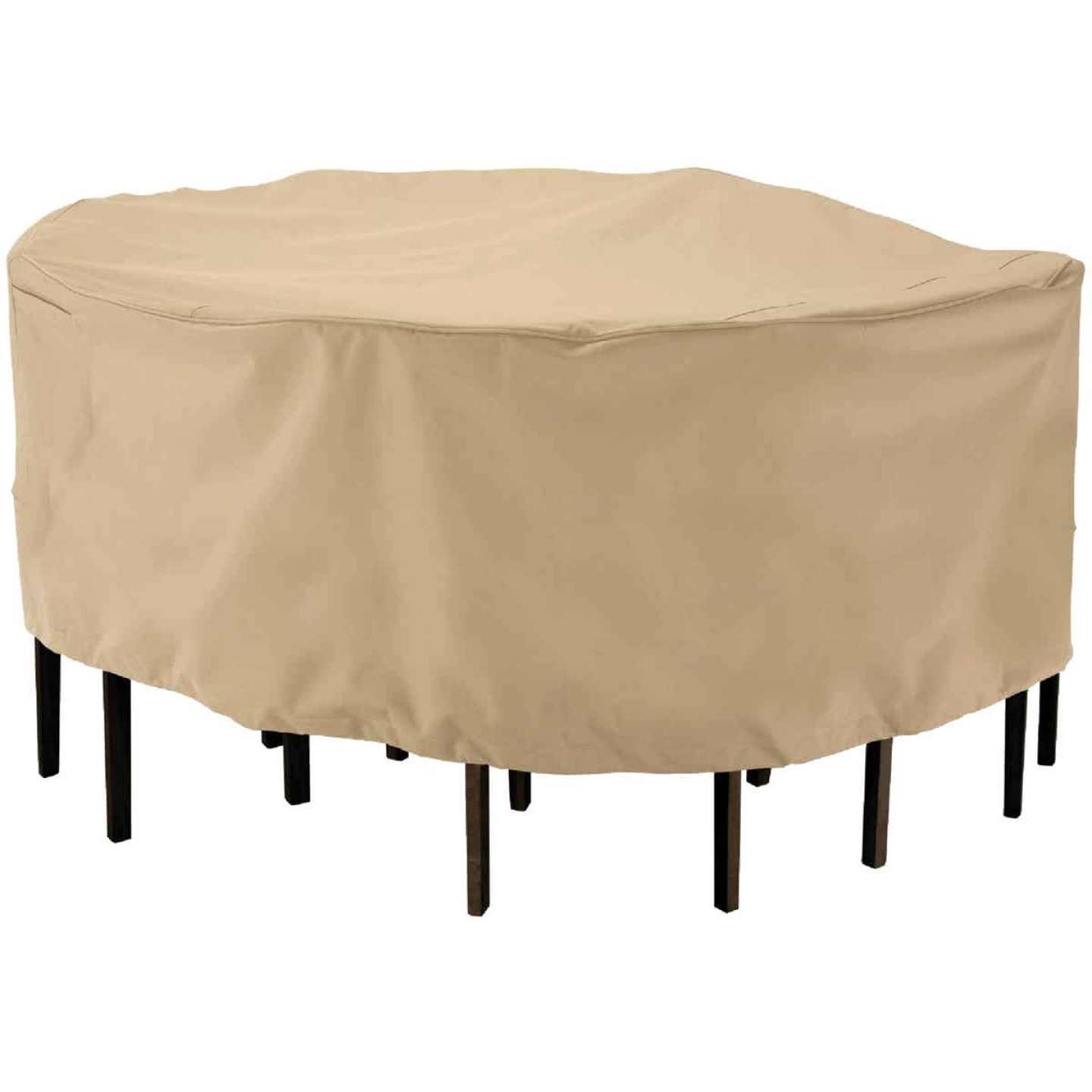 Classic Accessories 23 In. H. x 94 In. D. Tan Polyester/PVC Table Cover Image 1