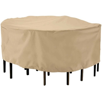Classic Accessories 23 In. H. x 94 In. D. Tan Polyester/PVC Table Cover