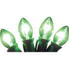 J Hofert C7 Green Transparent 125V Replacement Light Bulb (4-Pack) Image 1